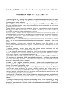 I disturbi dell`attaccamento