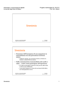 Sinestesia Sinestesia - Home di homes.di.unimi.it
