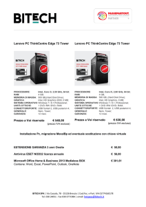 Lenovo PC ThinkCentre Edge 73 Tower Prezzo a Voi