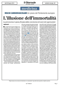 L`illusione dell`immortalità