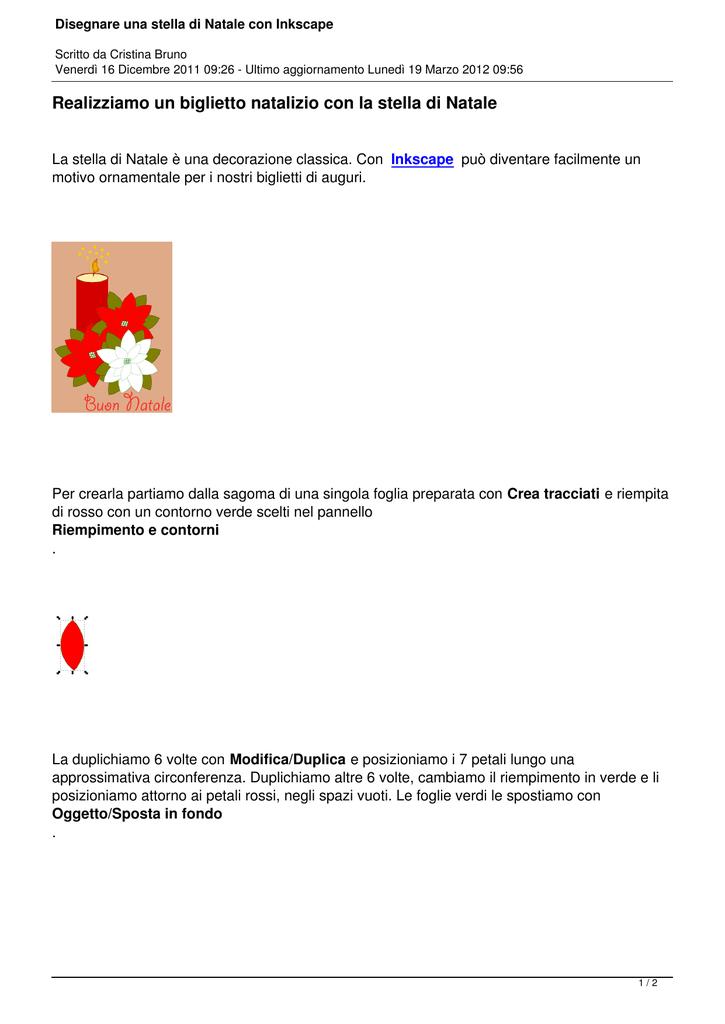 Disegnare Una Stella Di Natale.Disegnare Una Stella Di Natale Con Inkscape