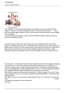 The King and I - Scuola di Musical