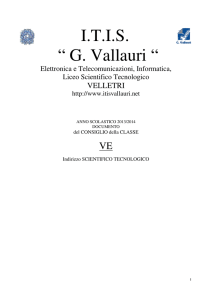 liceo scientifico tecnologico - ITIS G. Vallauri Velletri