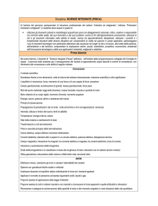 SCIENZE INTEGRATE (FISICA)