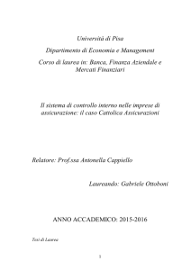 Università di Pisa Dipartimento di Economia e Management
