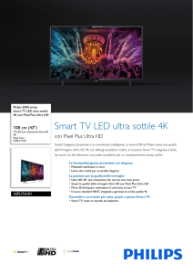 43PUT6101/12 Philips Smart TV LED ultra sottile 4K con Pixel Plus