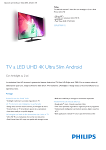Product Leaflet: TV UHD 4K Android™ Ultra Slim