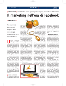 Il marketing nell`era di Facebook