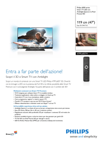 47PFL6057H/60 Philips Smart TV LED con Ambilight Spectra 2 e