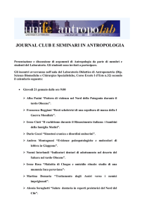 Journal Club 21 Gennaio 2016 - Dipartimento di scienze