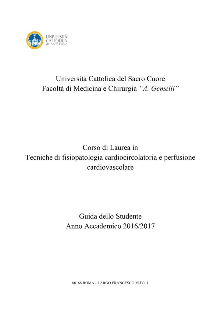 Unicatt Calendario Esami.Universita Cattolica Del Sacro Cuore Facolta Di Medicina E