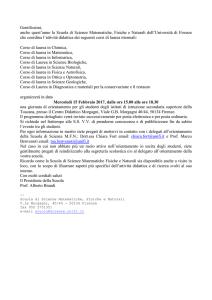 Calendario Unifi.Unifi Calendario Open Day Scienze Matematiche Fisiche