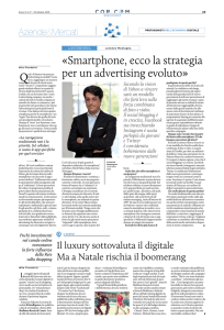 Smartphone, ecco la strategia per un advertising evoluto