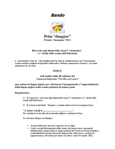 "Prize ""Imagine"" - Comitato di Quartiere Infernetto"