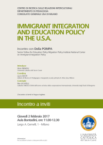 IMMIGRANT INTEGRATION AND EDUCATION POLICY IN THE U.S.A.