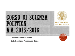 scienza politica - Università del Salento