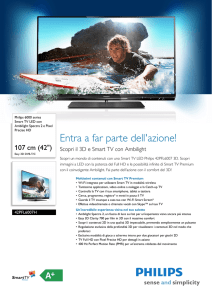 42PFL6007H/12 Philips Smart TV LED con Ambilight Spectra 2 e