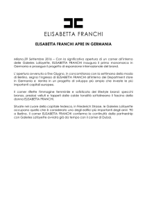 ELISABETTA FRANCHI APRE IN GERMANIA