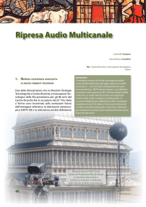 Ripresa Audio Multicanale