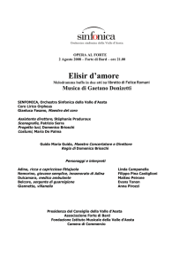 Elisir d`amore - Forte di Bard