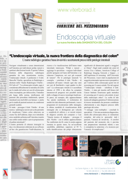 Endoscopia virtuale - Studio radiologico viterbo