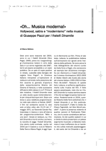 Marco BELLANO, «Oh… Musica moderna!» Hollywood, satira e