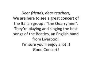 Dai Beatles ai Quarrymen - icdeamicislaterza.gov.it
