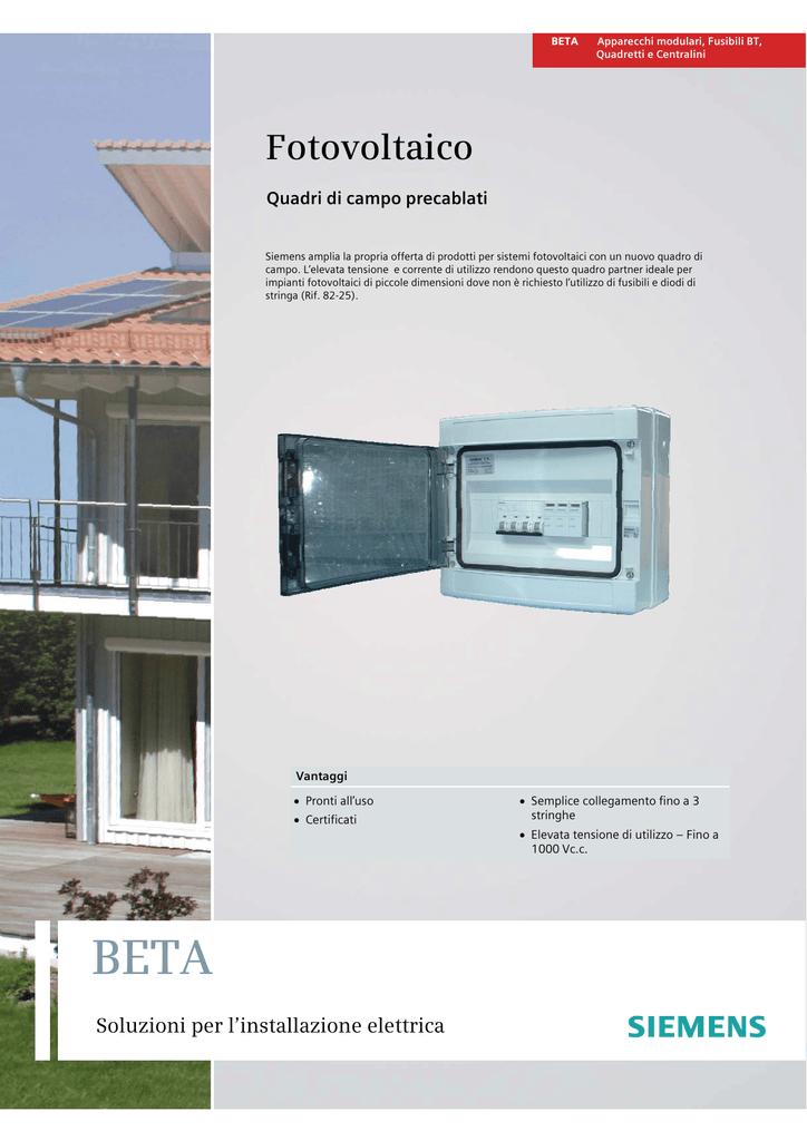 Schema Elettrico Quadro Di Campo Stringhe : Fotovoltaico