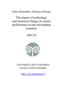The impact of technology and structural change on