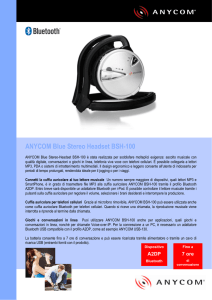 ANYCOM Blue Stereo Headset BSH-100
