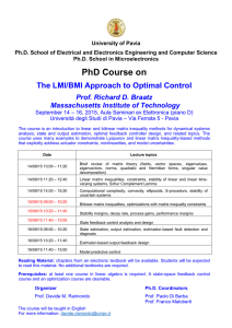 The LMI/BMI Approach to Optimal Control