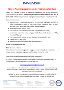 Recruiting Analisti Programmatori Java