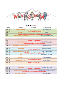 calendario centro estivo - Palestra My-gyM