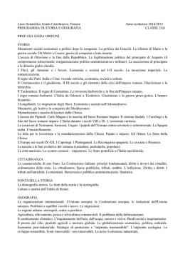 Liceo Scientifico Guido Castelnuovo, Firenze Anno scolastico 2014