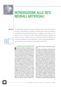 introduzione alle reti neurali artificiali