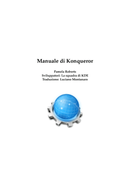 Manuale di Konqueror - KDE Documentation