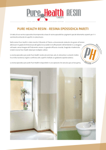 PURE HEALTH RESIN - RESINA EPOSSIDICA PARETI
