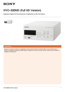 HVO-500MD (Full HD Version) Brochure