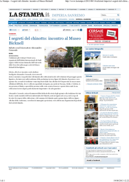La Stampa - arciconfraternita del chinotto