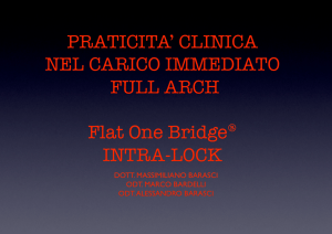 PRATICITA` CLINICA NEL CARICO IMMEDIATO FULL ARCH Flat