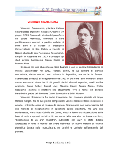 VINCENZO SCARAMUZZA Vincenzo Scaramuzza, pianista italiano