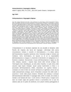 resoconto in *pdf - Web Osservatorio