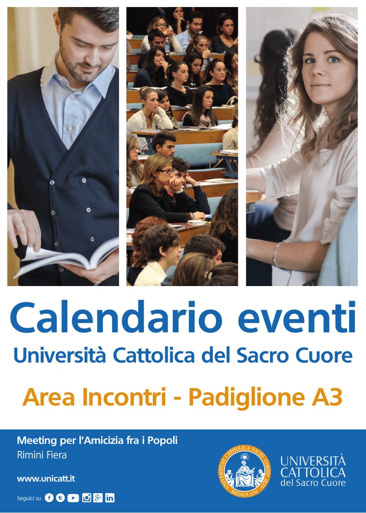 Calendario Unicatt.Guarda Il Programma Completo Universita Cattolica Del
