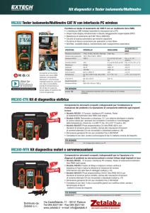 Kit diagnostici e Tester isolamento/Multimetro MG302 Tester
