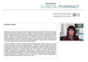 marina carini - Master in Clinical Pharmacy