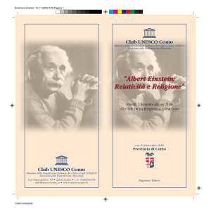 Brochure Einstein - Club UNESCO COMO