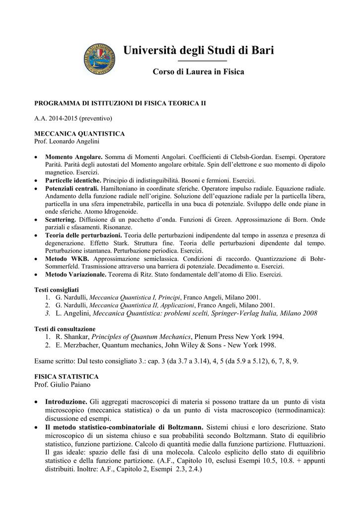 NARDULLI MECCANICA QUANTISTICA PDF DOWNLOAD