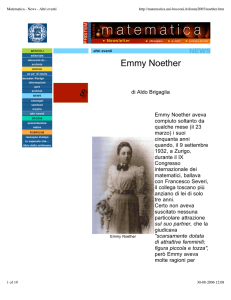Emmy Noether - mat.uniroma3