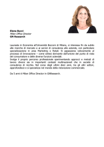 Elena Bucci Milan Office Director GN Research Laureata in