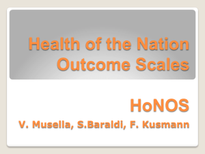 Health of the Nation Outcome Scales HoNOS